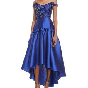 Marchesa Notte High-Low Bead Embroiderd Gown